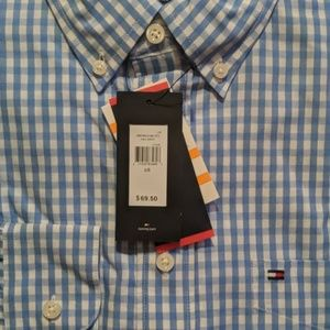 Tommy Hilfiger Shirts - NWT TOMMY HILFIGER BLUE CHECK BUTTON FRONT
